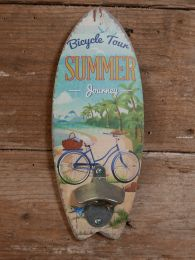 Opener Bicycle Tour Simmer Journey blauw groen 30 x 12 x 4 cm