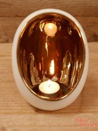 Waxinelichthouder Egg wit L